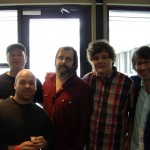 With Ron Sexsmith and band with the great Steve Earle in Austin,Texas