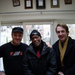 Tim with David Madden (Bob Marley and the Wailers trumpeter) and Fergus Hambleton (The Sattalites)