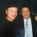 Tim with the friendly John Travolta in Toronto