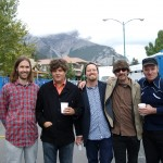 Don Kerr,Ron Sexsmith,David Matheson,Jason Mercer and Tim in Banff,Alberta
