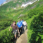 Alaskan hiking with Kevin Fox,Tim,Jenny Bovaconti and Robbie Roth