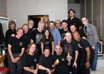 Bachman Cummings band and crew at end of 2009 tour in Toronto