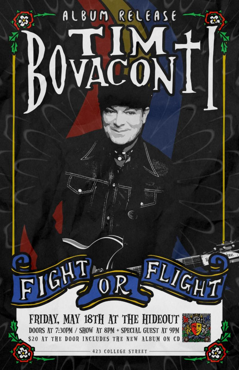 Tim Bovaconti's Fight Or Flight Album Release Party announced for Friday, May 18 at The Hideout!